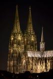 Köln-Kathedrale nachts Stockfotografie