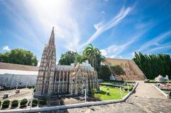 Köln-Kathedralen-Replik bei Mini Siam in Pattaya lizenzfreies stockbild