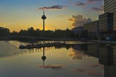 Köln mediapark Stockfotografie