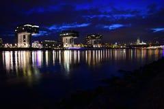Köln nachts II lizenzfreie stockfotos