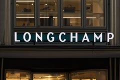 Köln, Nordrhein-Westfalen/Deutschland - 17 10 18: longchamp unterzeichnen herein Cologne Deutschland lizenzfreie stockfotos