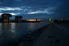 Köln-Sonnenuntergang III stockbilder