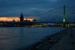 Köln-Sonnenuntergang IV Stockfotografie