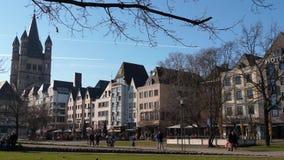 Kölner Altstadt und Kirche St. Martin mp4 stock video