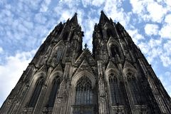 Kölner Dom. Kölner Dom, High Cathedral of St.Peter, old ancient cathedral in Cologne, North Rhine-Westphalia, Germany. It is a monument of german Stock Photography