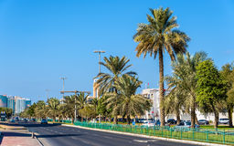 König Abdulla Bin Abd Aziz Street Lizenzfreies Stockfoto