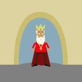 König außerhalb seines Schlosses lizenzfreies stockfoto