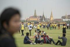 KÖNIG BIRTHDAY THAILAND-BANGKOK SANAM LUANG Lizenzfreie Stockbilder