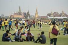 KÖNIG BIRTHDAY THAILAND-BANGKOK SANAM LUANG Stockbild