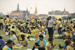 KÖNIG BIRTHDAY THAILAND-BANGKOK SANAM LUANG Lizenzfreies Stockbild