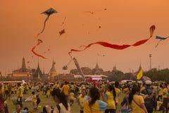 KÖNIG BIRTHDAY THAILAND-BANGKOK SANAM LUANG Lizenzfreies Stockfoto