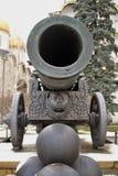 König Cannon - Zar-Kanone von Moskau der Kreml Farbwinterfoto lizenzfreies stockfoto