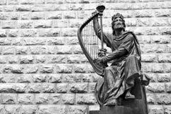 König David Scoulpture in alter Stadt Israel Jerusalems Stockbild