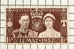 König George VI, Stempel Stockfotografie