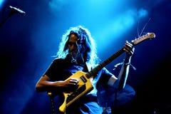 König Gizzard und der psychedelische Rockband des Eidechsen-Zauberers führen im Konzert an Primavera-Ton 2017 durch lizenzfreies stockbild