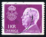 König Gustaf VI Adolf Stockfotografie