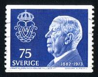 König Gustaf VI Adolf Lizenzfreie Stockbilder