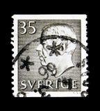 König Gustaf VI Adolf, serie, circa 1964 Lizenzfreie Stockfotografie