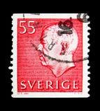 König Gustaf VI Adolf, serie, circa 1969 Stockbild