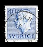 König Gustaf VI Adolf, serie, circa 1964 Stockfotografie