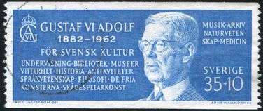 König Gustav VI Adolf Stockfoto