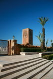 König Hassan Tower Marokko Stockbild