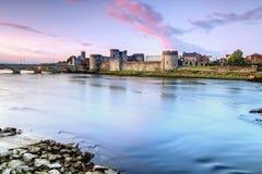 König Johns Castle im Limerick, Irland. Stockbild