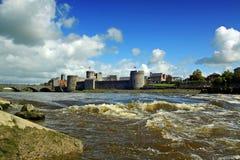 König Johns Castle Limerick Irland Lizenzfreies Stockbild