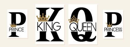 König, Königin, Prinz und Prinzessin Mutter, Vati, kleine Schwester, Bruder, Tochter, Sohn vektor abbildung