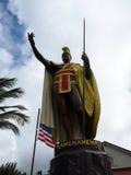 König Kamehameha Statue in der historischen Stadt Kapaau Lizenzfreie Stockfotografie