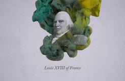 König Louis XVIII von Frankreich lizenzfreie abbildung