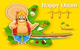 König Mahabali, das Regatta von Kerla auf Onam genießt Stockfoto