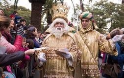 König Melchor nimmt Briefe Lizenzfreie Stockbilder