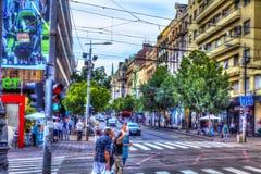 König Milan Street Stockfotos