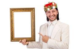 König mit Bilderrahmen Lizenzfreie Stockbilder