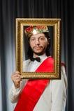 König mit Bilderrahmen Lizenzfreie Stockfotos