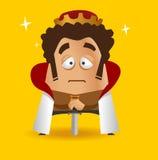 König mit seiner Klinge Stockfotos