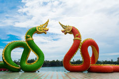 KÖNIG OF NAGAS AT WAT SAMAN Lizenzfreie Stockfotos
