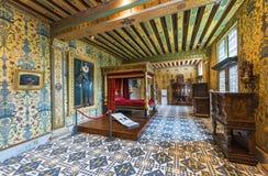 König ` s Kammer im Chateau Blois Stockfotografie