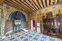 König ` s Kammer im Chateau Blois Stockbilder