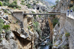 König ` s Weg Màlaga Andalusien Spanien Lizenzfreie Stockfotos