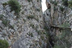 König ` s Weg Màlaga Andalusien Spanien Stockfotografie