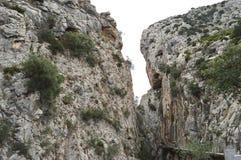 König ` s Weg Màlaga Andalusien Spanien Stockbilder
