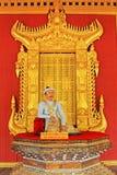 König Seat, Mandalay, Myanmar Mandalay-Royal Palace Lizenzfreies Stockfoto