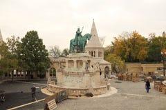König St Stephenâ €™s Statue Stockbild