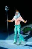 König Triton der kleinen Meerjungfrau stockbild