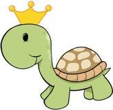 König Turtle Vector lizenzfreie abbildung