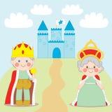 König und Königin Stockbild