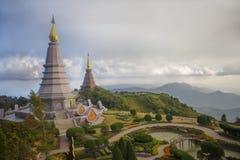 König- und Königinpagode von Doi Inthanon Stockfoto