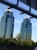 König- und Königintürme in Atlanta Stockbild